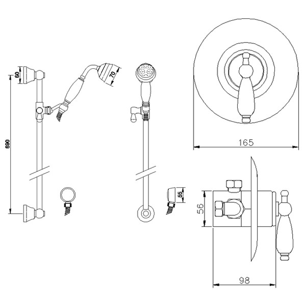 Premier Bathroom Beaumont Sequential Thermostatic Valve