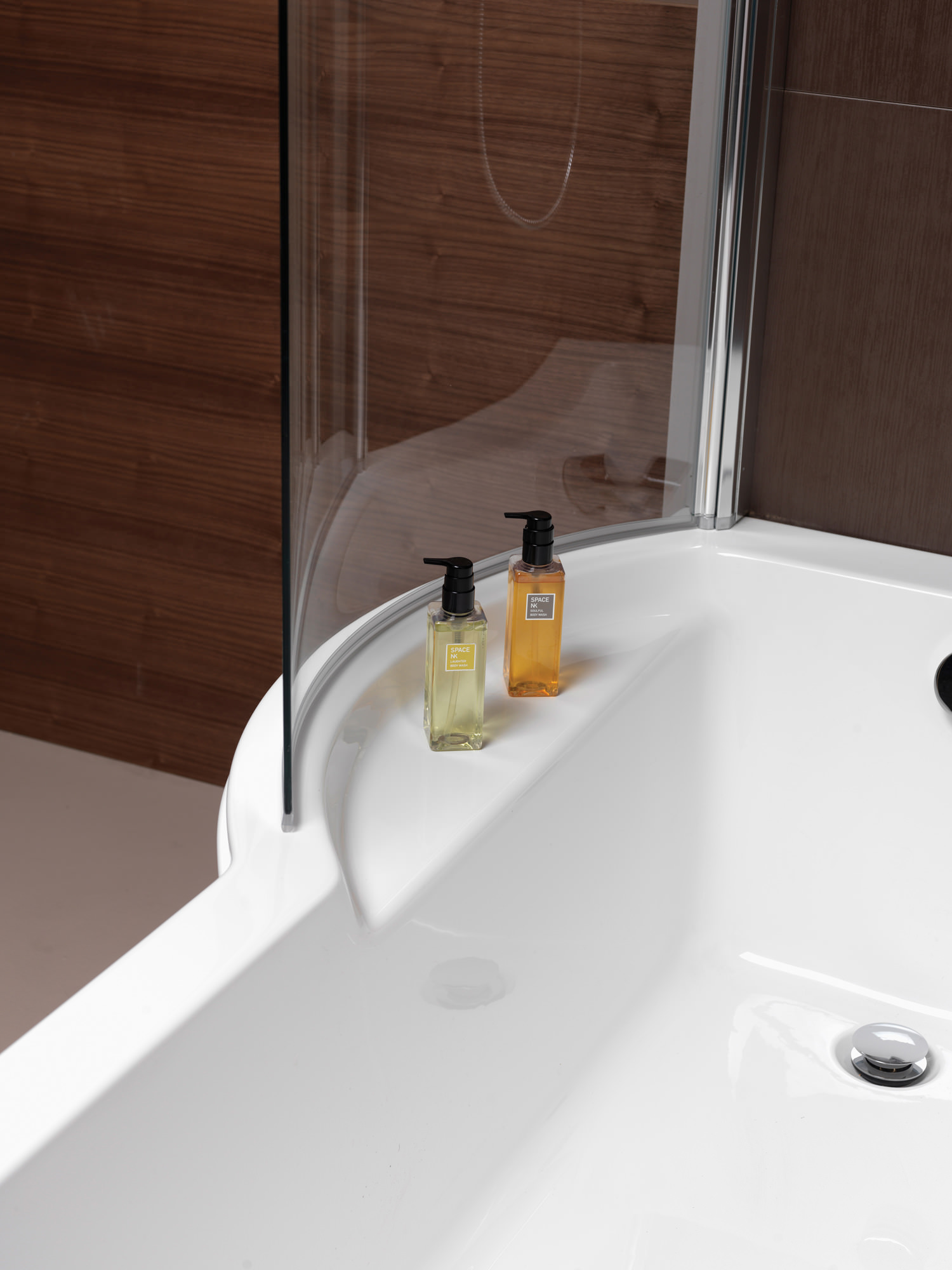 Pura Arco Left Hand 1500 x 850mm Shower Bath  PBSBLH15
