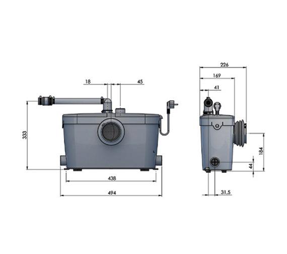 certified kitchen designer benches saniflo saniaccess 3 macerator pump - 1902