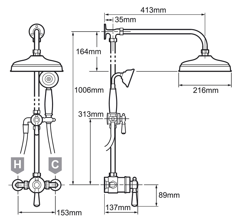 shower diverter valve diagram meyer plow controller wiring mira realm thermostatic mixer with erd