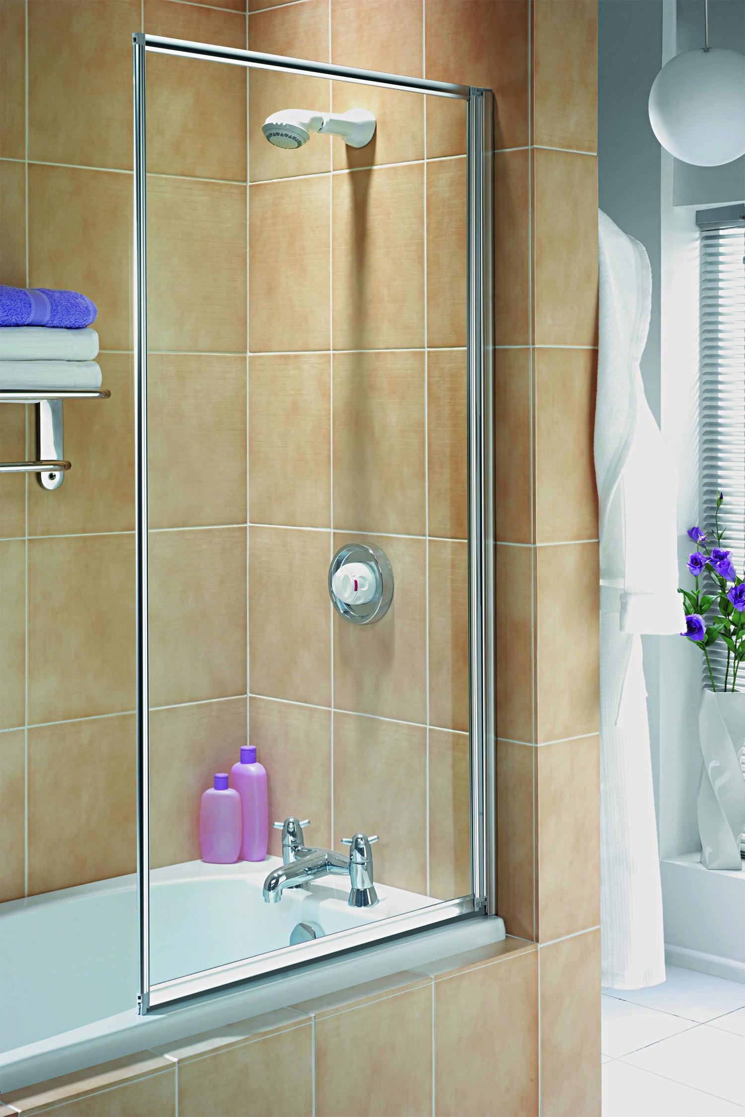 kitchen splash guard gray glass subway tile backsplash aqualux aqua 3 fully framed bath screen white - fs6456aqu