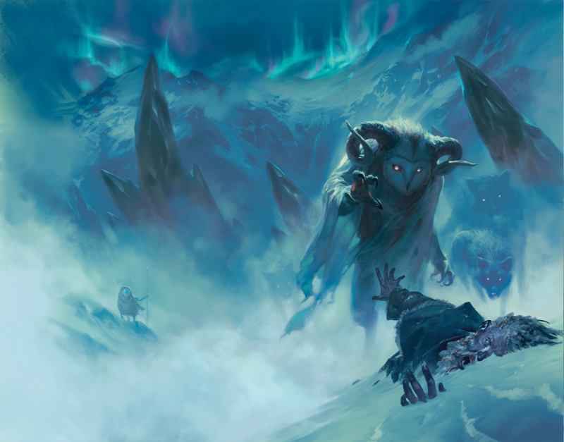 "Concept art from Icewind Dale: Rime of the Frostmaiden, <a href=""http://www.ign.com/articles/2020/06/18/dnd-icewind-dale-rime-of-the-frostmaiden-reveal-art-dungeons-dragons-campaign-adventure-2020-dnd-live"">revealed at D&D Live 2020</a>."