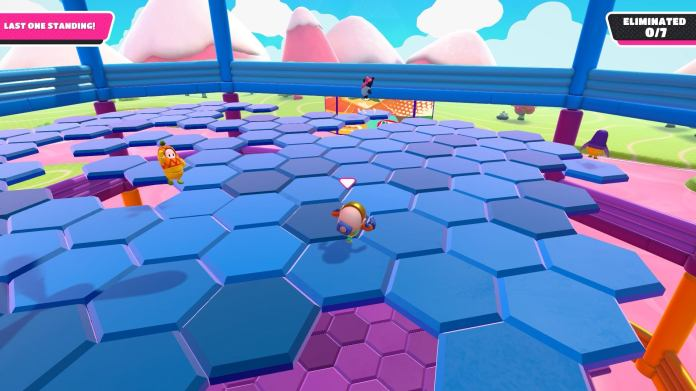 Hex-A-Gone Hex-A-Gone is the ultimate final game. One that combines strategy, skill, and more than a little bit of luck, but that's what makes it great. It's a game where skilled and experienced players have the edge, but there's always room for their plans to go awry, allowing lesser experienced players to still have a fighting chance. Beyond that though, the game is just fun. It's strategic platforming action at its best, making it the best Fall Guy minigame, at least so far.
