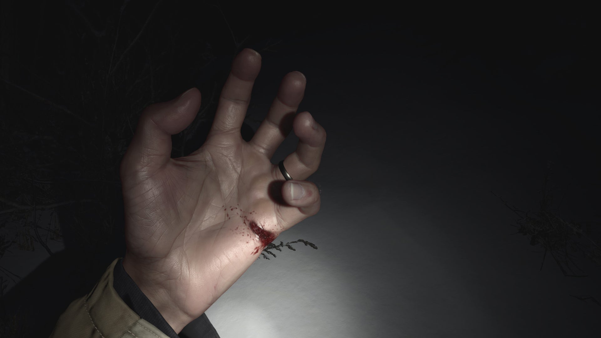 1. Barbed Wire</p></p>  While wading through the dark late night/early morning and the squelchy, pure white snow of Village's post-prologue sequence, Ethan encounters a barbed-wire fence. Village's precedent is instantly set here, as Ethan carelessly cuts his left hand while using it to lift the wire and allow the rest of his body safe passage. It's a deep gash, as evidenced when Ethan shines a light on his profusely bleeding palm, shortly before he's forced to crawl on a dirty, blood-soaked wooden floor of a nearby cabin he discovers. Let's not even begin to imagine what infections he might have gotten.