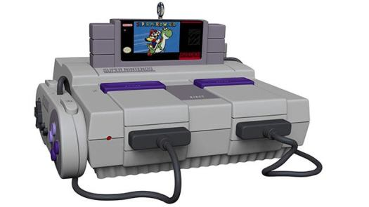 SNES Console Ornament With Light and Sound