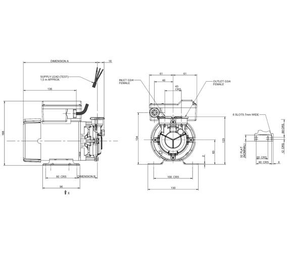 Stuart Turner PH 45 TS Peripheral Horizontal Top Suction Pump