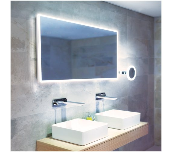HIB Globe 120 LED Mirror With Ambient Lighting 1200 x