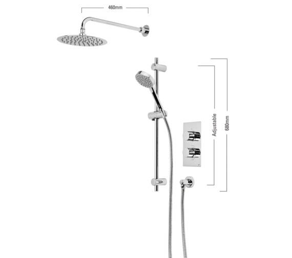 Roper Rhodes Event Round Concealed Dual Function Shower