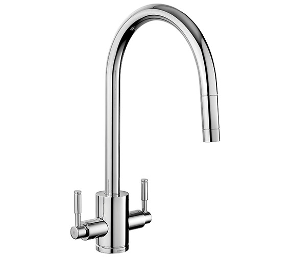 Rangemaster Aquatrend Dual Lever Pull Out Kitchen Sink