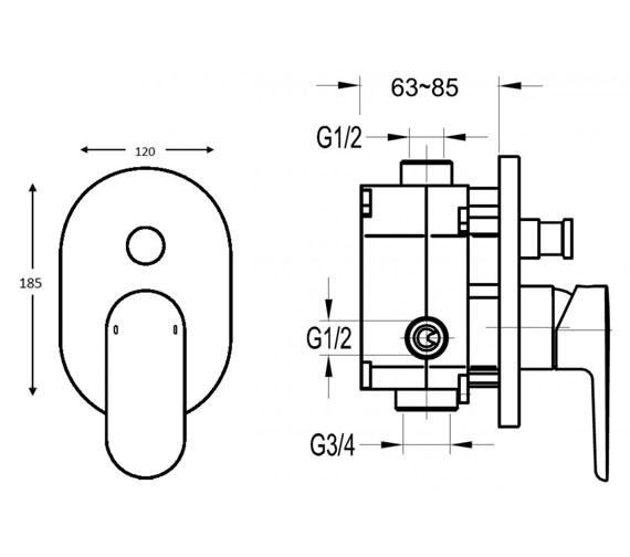 Flova Smart Concealed Manual Shower Valve