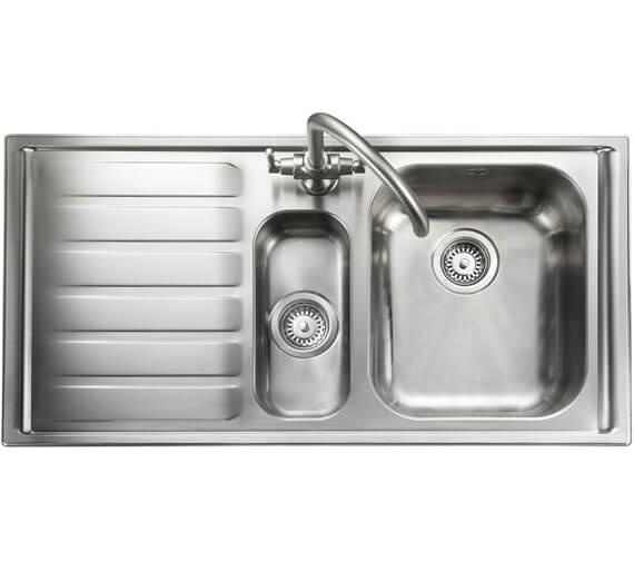 rangemaster manhattan 1 5 bowl stainless steel kitchen sink