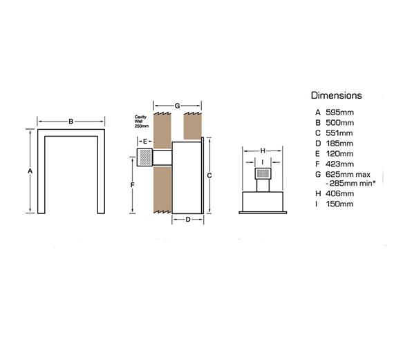 Flavel Calibre Balanced Flue Gas Fire Manual Control Brass