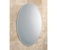 HIB Alfera Oval Shaped Mirror With Bevelled Edge