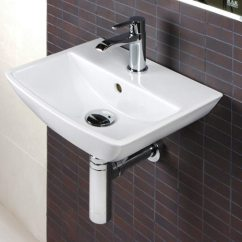 Summit All In One Kitchen Home Depot Floor Tile Rak 1 Tap Hole Wall Hung Hand Basin 400mm - Sum40bas1