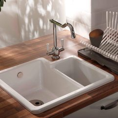 Ceramic Kitchen Sink Modern Faucets Stainless Steel Abode Matrix Cr25 1 5 Bowl Aw1010