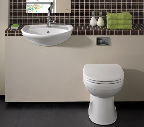 Twyford Galerie Flushwise BackToWall WC Pan 517mm  GN1438WH