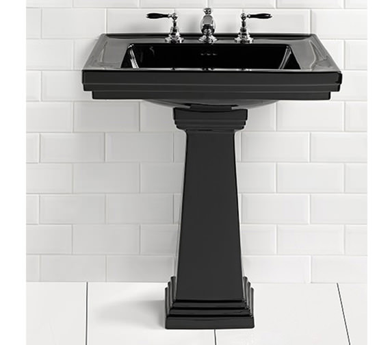 Imperial Astoria Deco 520mm Small Basin With Pedestal
