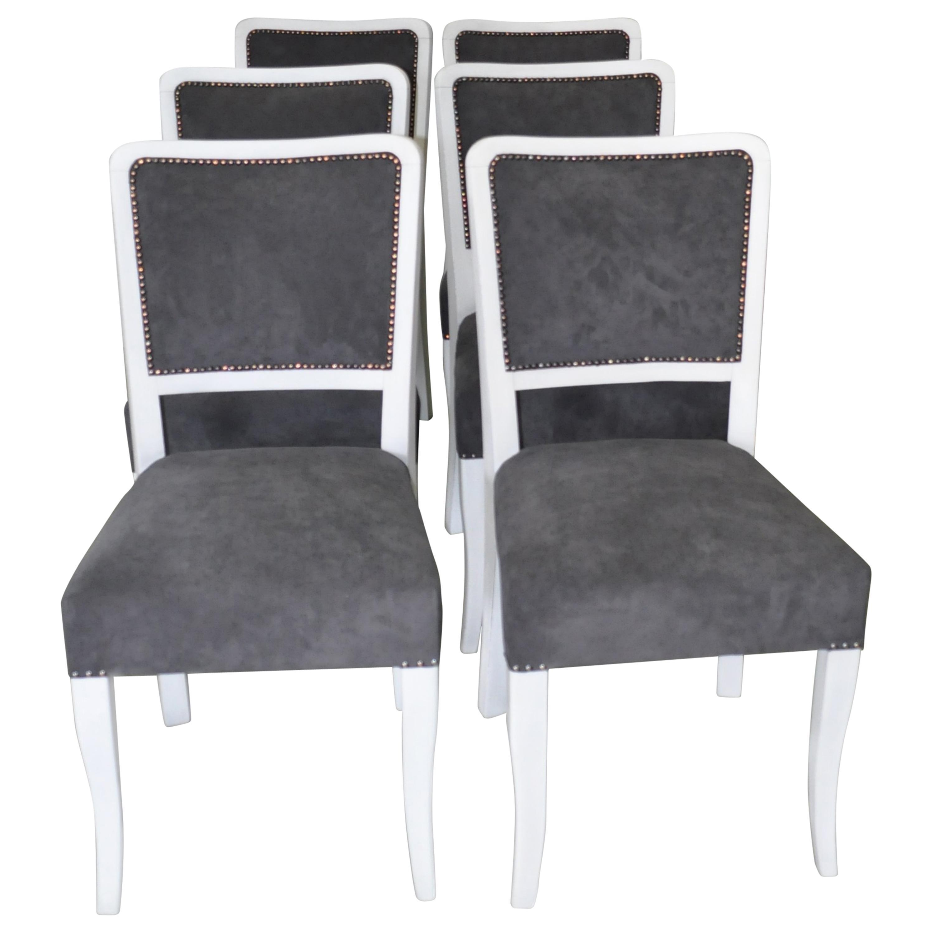 Dining Chair Set Of 6 Art Deco Dining Chairs Set Of 6