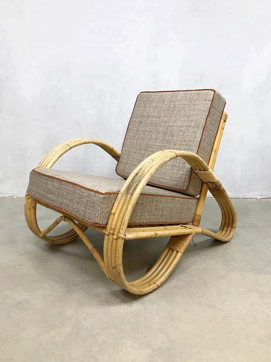 Vintage Rattan Chair Vintage Design Rattan Armchair Lounge Armchair Rattan Chair Paul Frankl Style