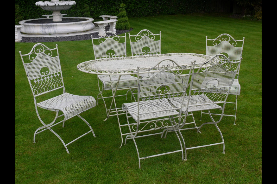 Outdoor Table And Chair Set Vintage Inspired Garden Table And Chairs Set Metal Patio Outdoor Dining