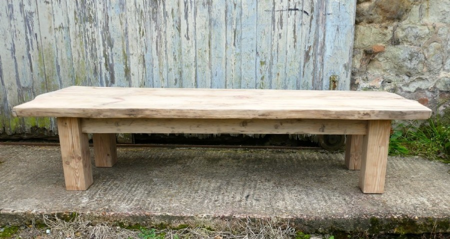rustic solid bleached pine coffee table woodland art furniture vinterior