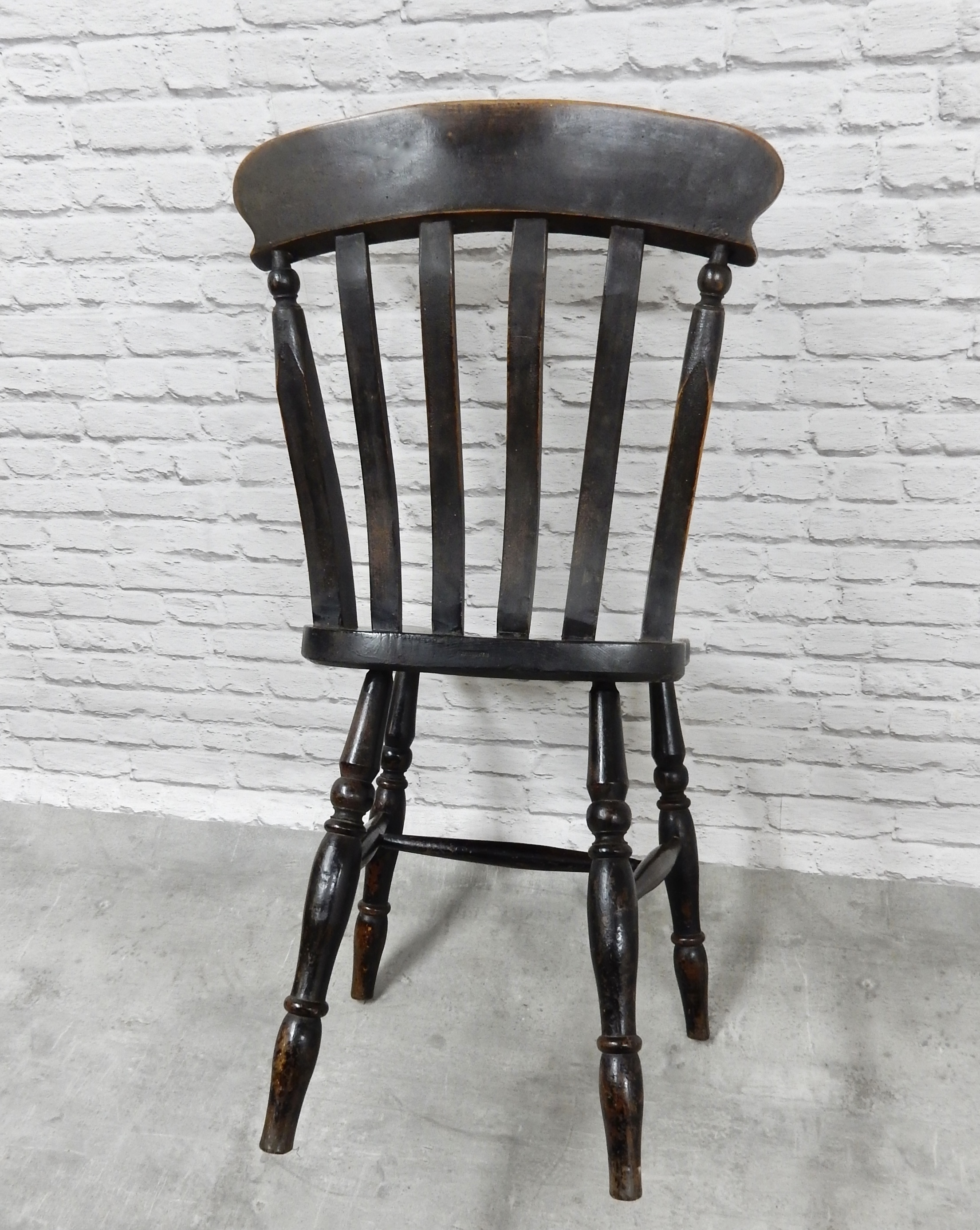 Windsor Chairs Black Set Of 6 Antique Windsor Kitchen Chairs