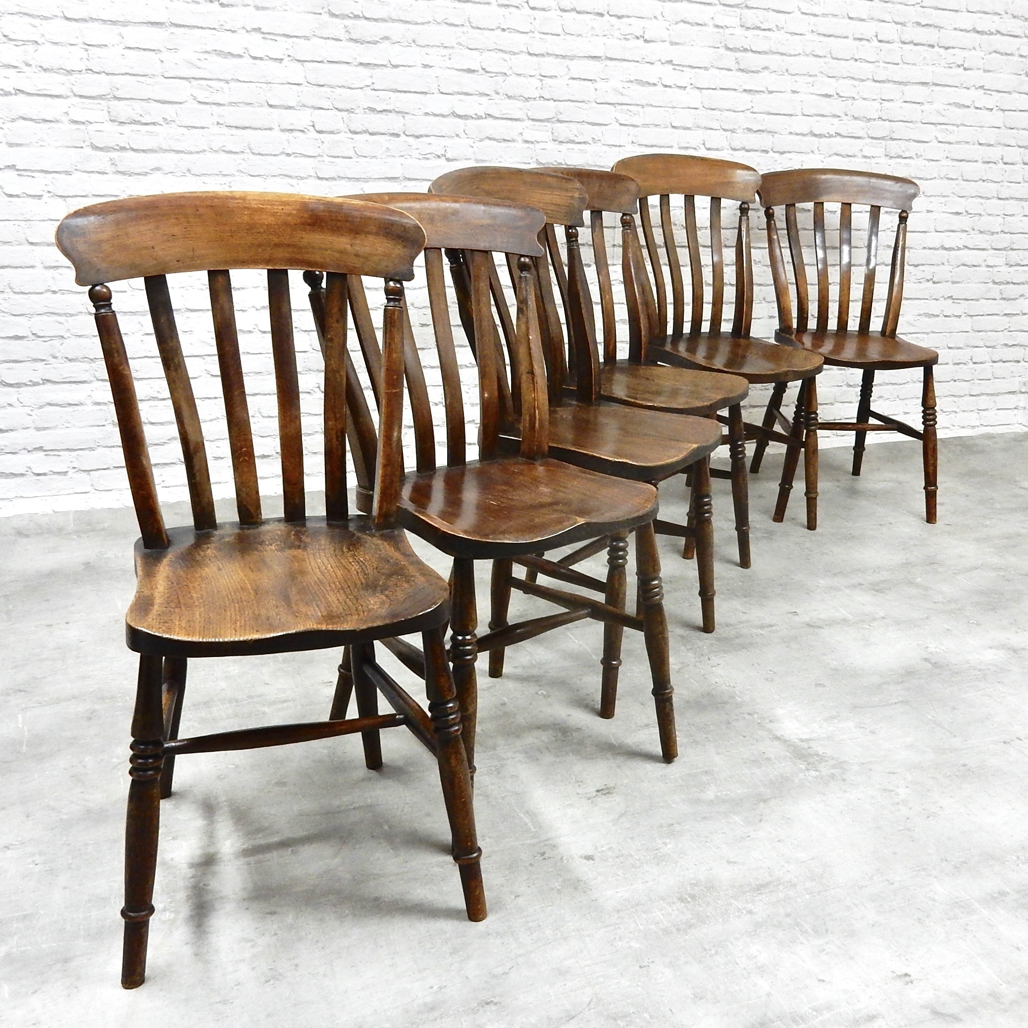 Country Kitchen Chairs Set Of 6 Antique Country Kitchen Chairs Vinterior Co