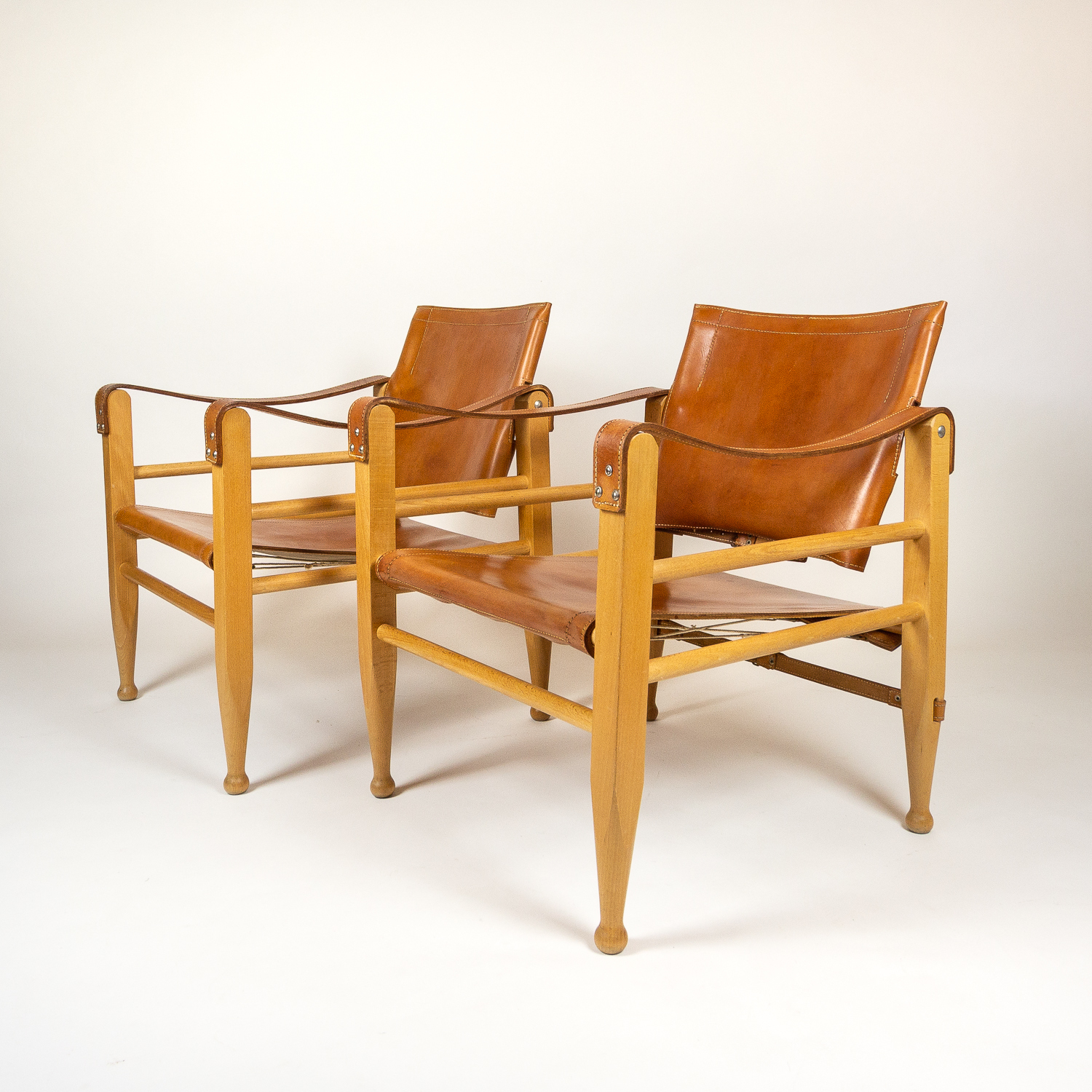 Safari Chairs A Pair Of Aage Bruun Safari Chairs