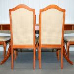 White Newton Cherry Wood Extendable Dining Table And Six Chairs Vinterior