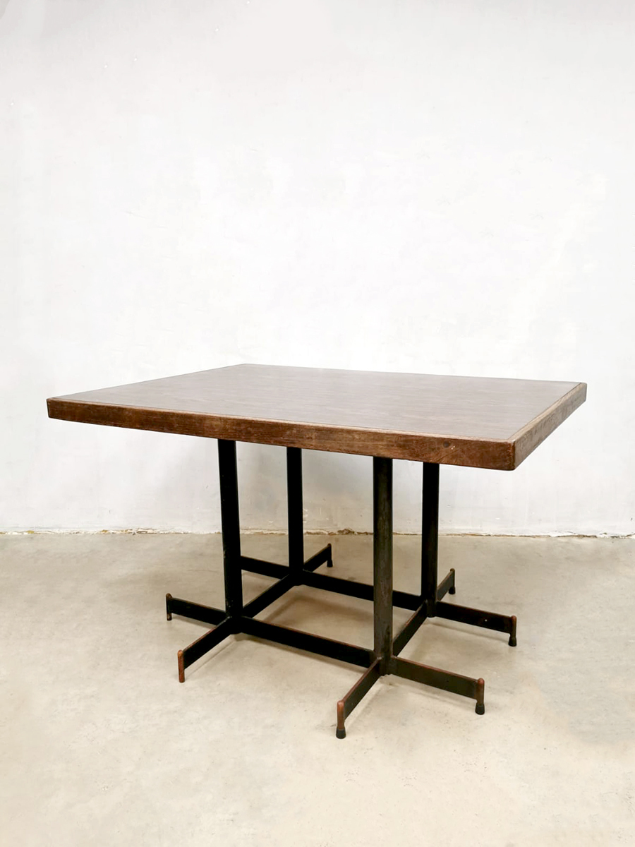 Industrial Dining Table Industrial Bistro Tables Atomic Shape Unknown Vinterior