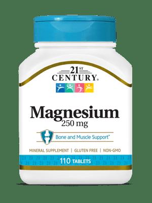 Magnesium 250 mg - 110 Tablets | 21st Century HealthCare Inc.