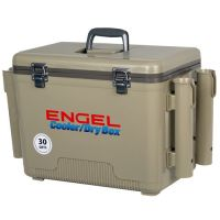 Engel 30 qt. Cooler/Dry Box with Rod Holders   Academy