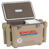Engel 19 qt. Cooler/Dry Box with Rod Holders   Academy
