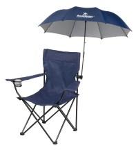 Clamp on chair umbrella