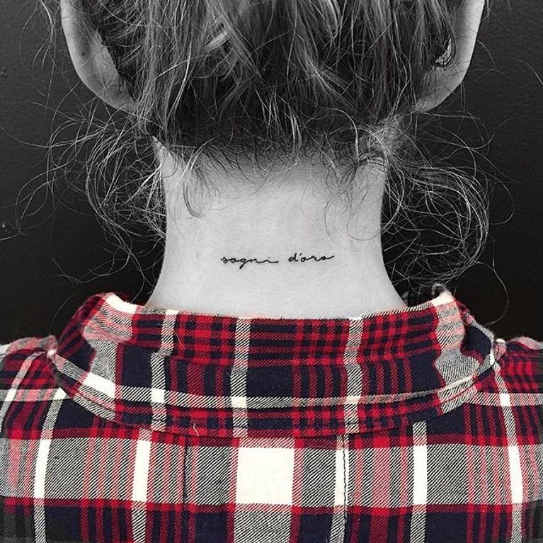 Tatuajes Para Nuca Diseños E Ideas Foto Enfemenino