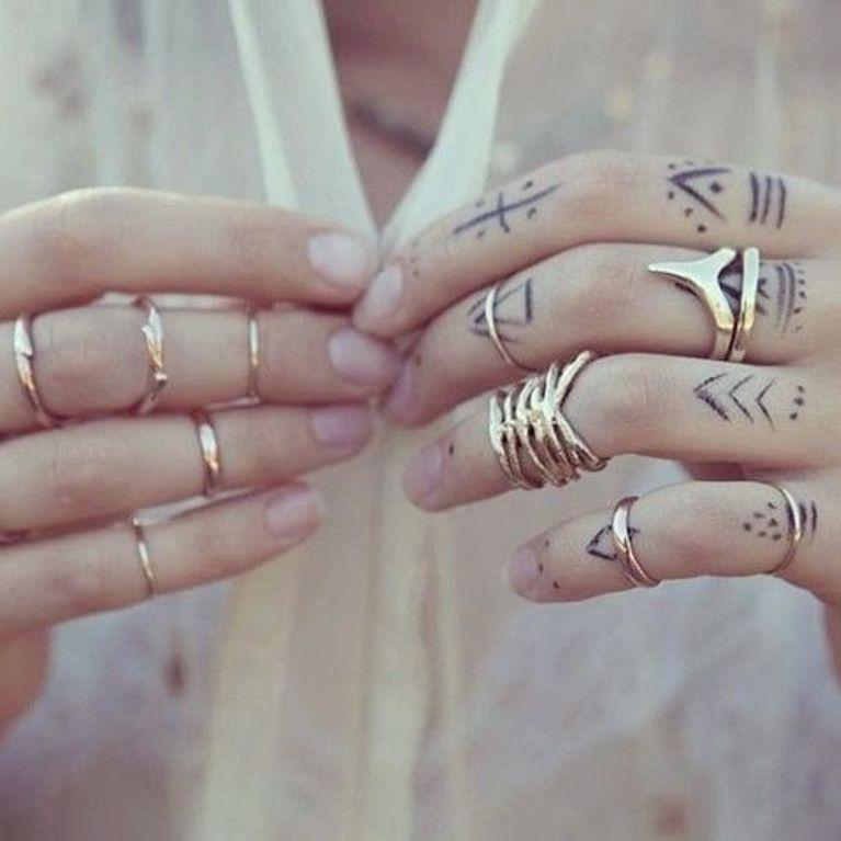 Tatuajes Para Dedos Foto Enfemenino