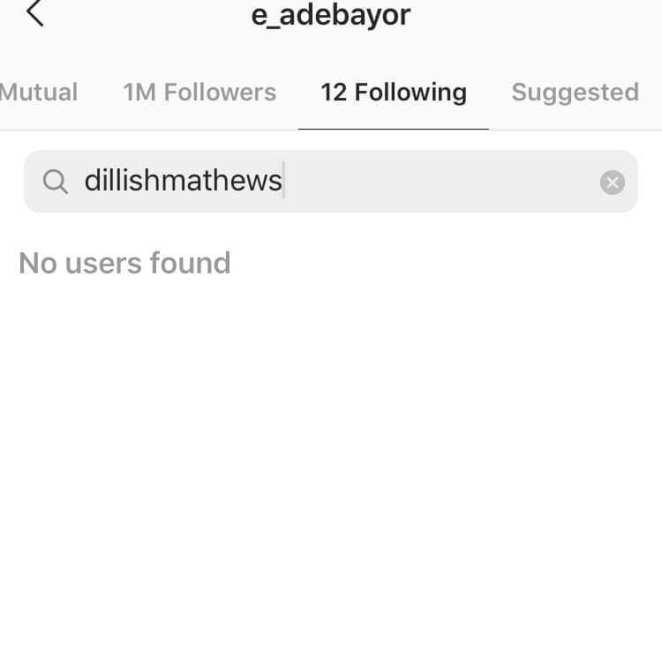It's over between Adebayor and his Namibian girlfriend, Dillish