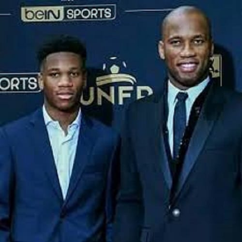 Young Isaac Drogba follows in his father's footsteps