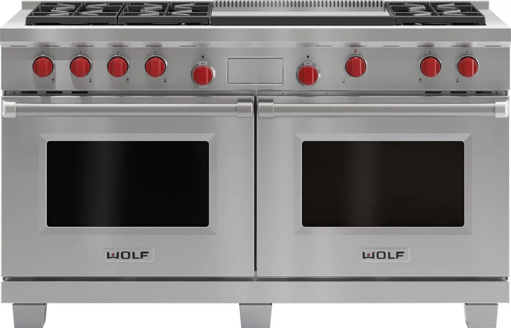 kitchen ranges gas white hutches for wolf df606dg 60 inch pro-style dual-fuel range with 6 dual ...