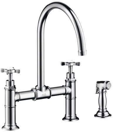 Hansgrohe 16808001 Double Cross Handle Kitchen Faucet with