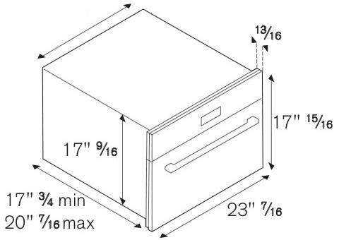 Bertazzoni SO24PROX 24 Inch Combination Microwave Single