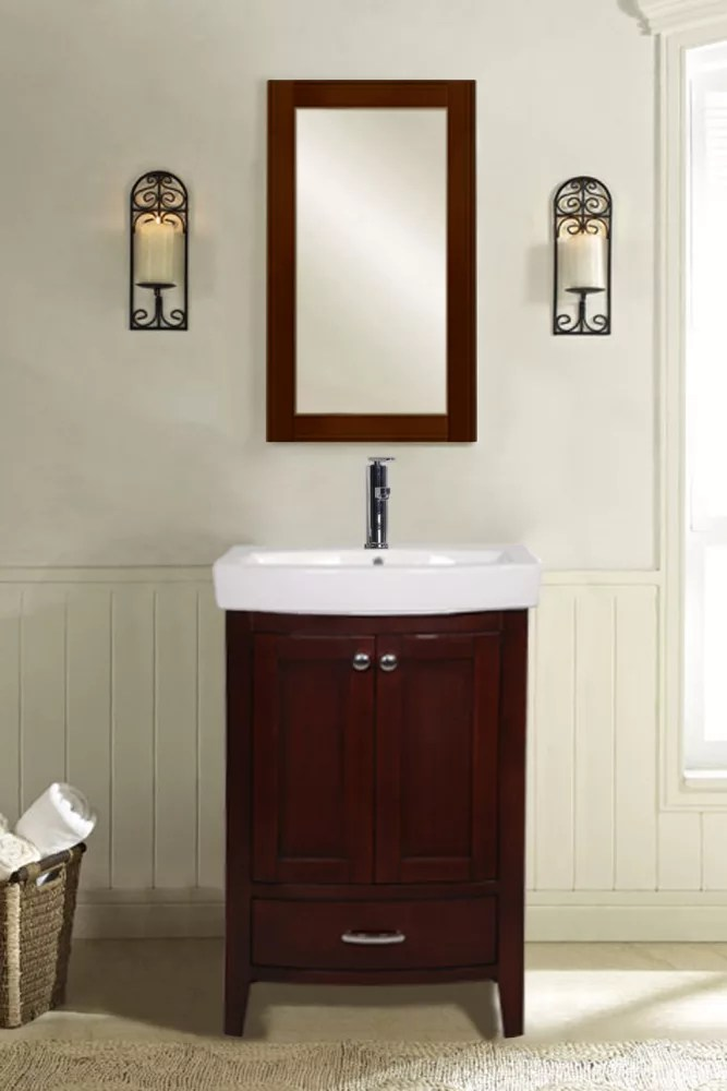 Empire Industries AMW 22 Inch Arch Collection Mirror for Bathroom Sink and Vanity White