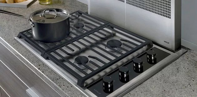 Wolf CG304TS 30 Inch Transitional Gas Cooktop with 4 Dual