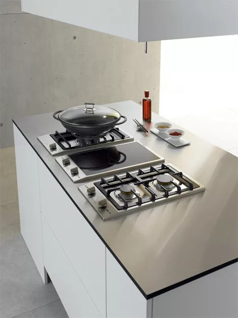 kitchen cooktops building island miele cs1012 12 inch double gas cooktop with stainless ...