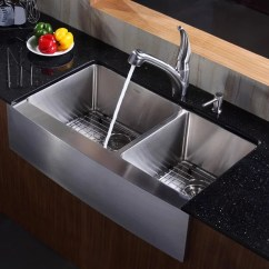 60 40 Kitchen Sink Mobile Kitchens Kraus Khf20336 36 Inch Stainless Steel 60/40 Double Bowl ...