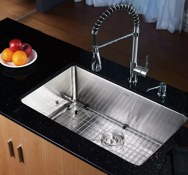 Kraus Khu Inch Undermount Single Bowl Kitchen Sink