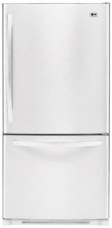 LG LBC22520SW 22.4 cu. ft. Bottom-Freezer Refrigerator