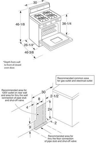 Hotpoint RGB526DETWW 30 Inch Freestanding Gas Range with 4