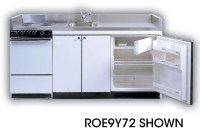 Acme ROG10Y72 Compact Kitchen with Stainless Steel ...