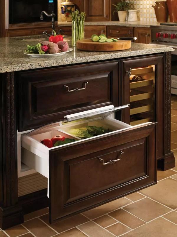 SubZero 700BR 27 Inch Builtin Double Drawer Refrigerator